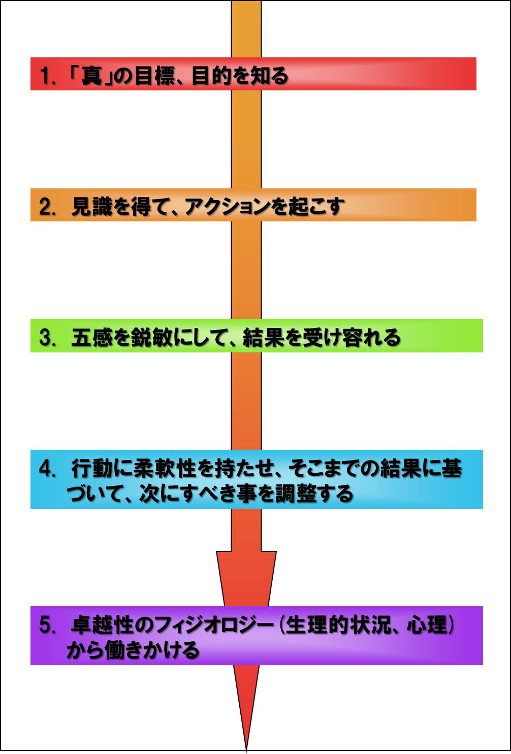 成功する五つの要素、ステップ